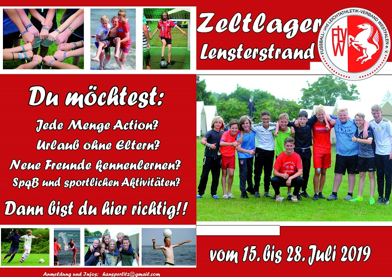 Zeltlager Lensterstrand 2019